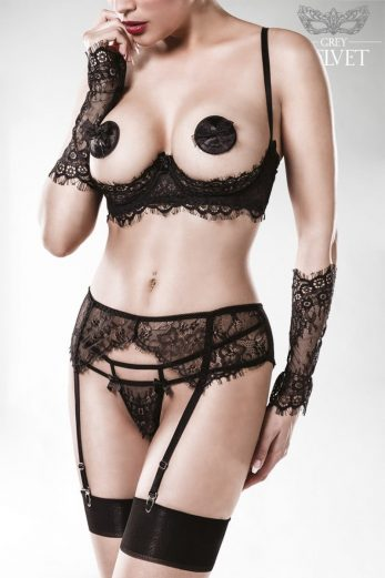 5-piece straps bra set 15128 - XL