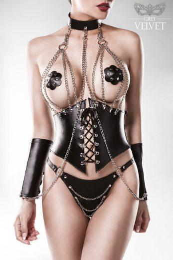 4-piece corset set 15133 - L/XL