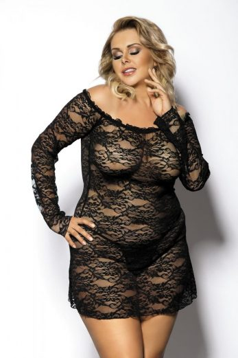 black chemise AA051301 - 5XL/6XL