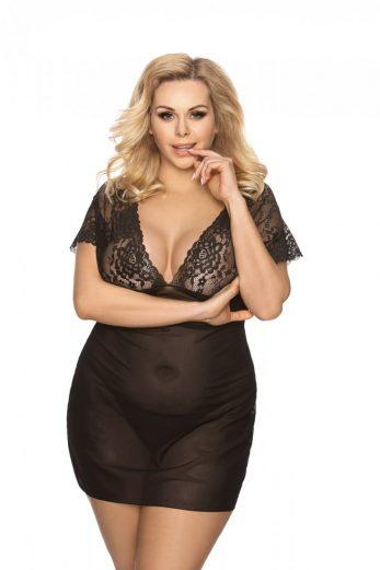 black chemise AA052102 - 5XL/6XL