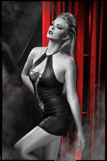 black mini dress DDFojbe001 - XXL