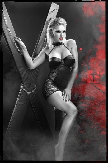 black mini dress DDFeme001 - XXL