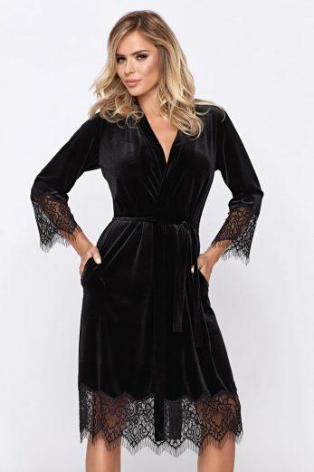 black Mia Desssing Gown - XXL