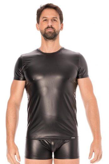 black wetlook T-Shirt 2008-81 - XL
