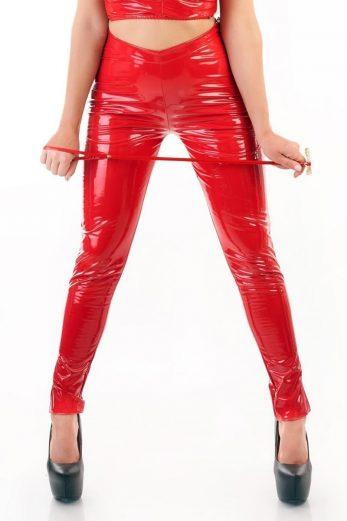red vinyl trousers MS-TR207 - XXL/XXXL