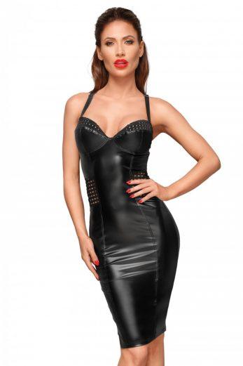 black Powerwetlook dress F180 - 6XL