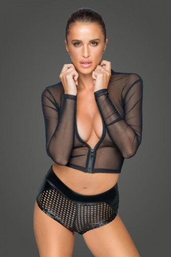 Zipped tulle top F220 - XL