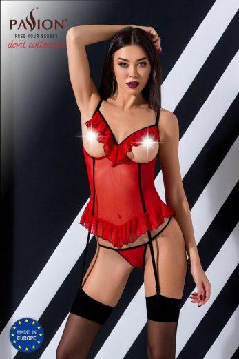red ouvert Corset Cherry - 2XL/3XL