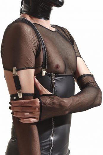 gloves CRD011 black Crossdresser - S/M