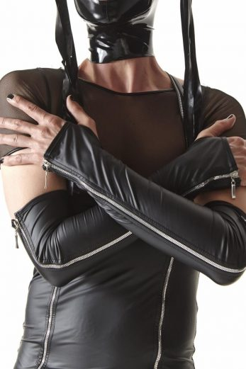 gloves CRD012 black Crossdresser - L/XL