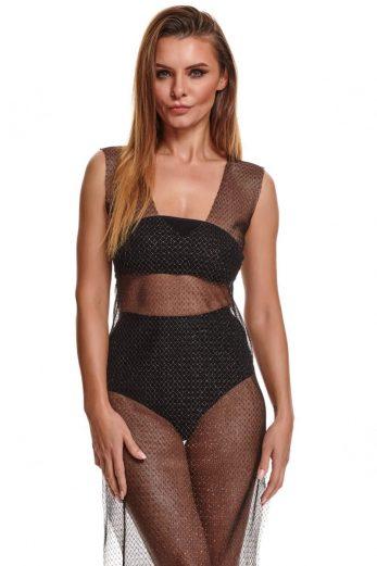 black/sliver long dress STIolanda001 - XXL