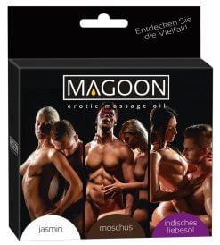 Hierontaöljysetti 3 eri tuoksua - Magoon