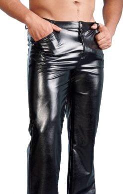 Miesten pitkät wetlook housut