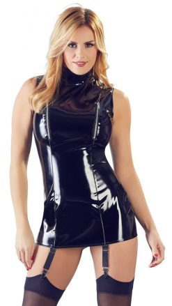 Vinyl Dress with Suspenders